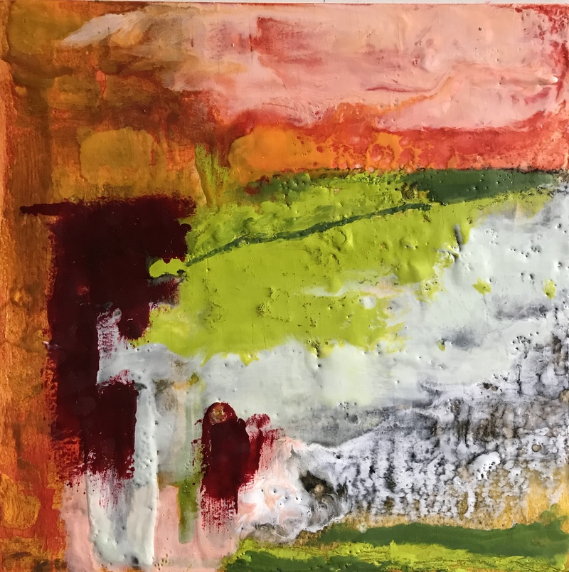 Katharine Dufault Encaustic  encaustic on panel
