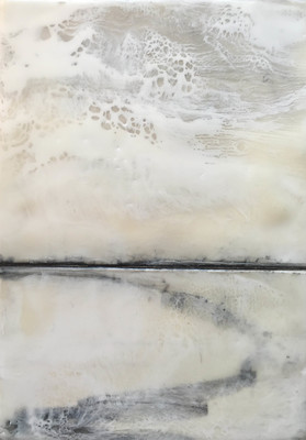 Katharine Dufault Encaustic  Encaustic, graphite on panel