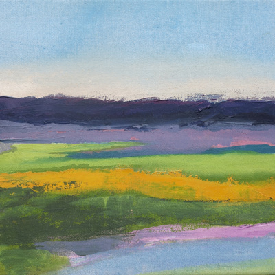 Katharine Dufault Landscape oil on canvas