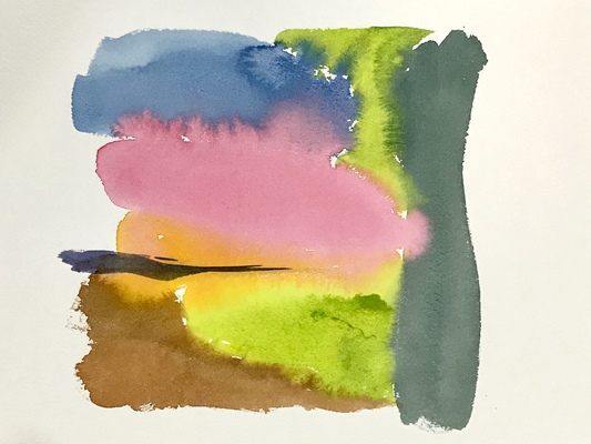 Katharine Dufault Work on Paper water color on Arches paper