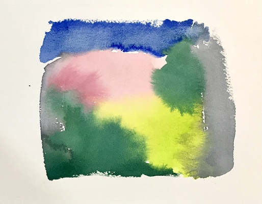 Katharine Dufault Work on Paper watercolor on Arches paper