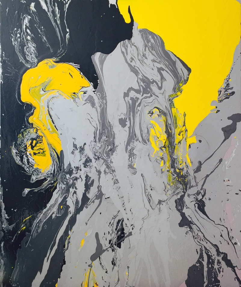 Leah Durner Paintings poured latex enamel on canvas