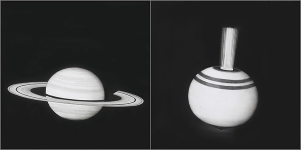 Virginia Fifield  Contemplation/Saturn and Spinning Top