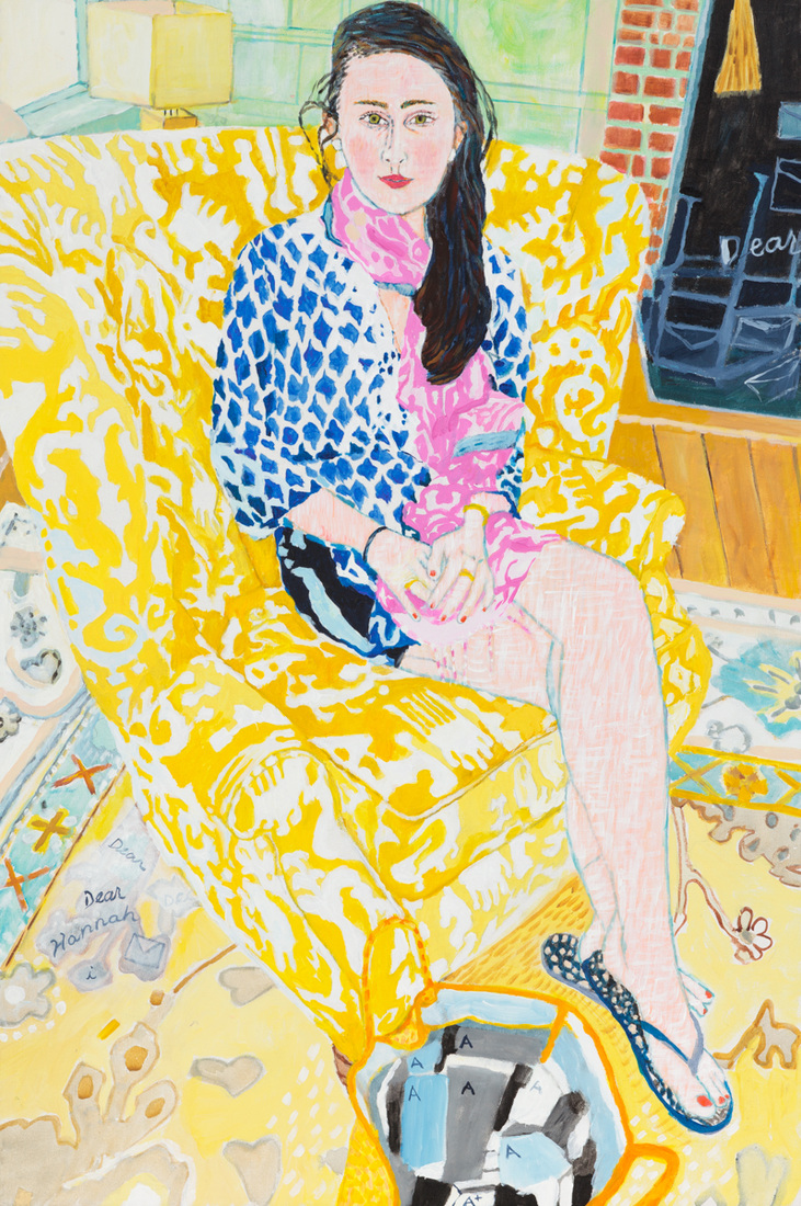 Paintings Hannah (Yellow Chair)