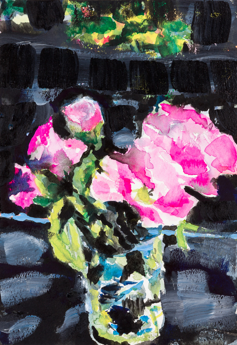 Works on paper Pink Camellia Twilight