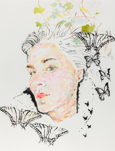 Self Portrait With Butterflies