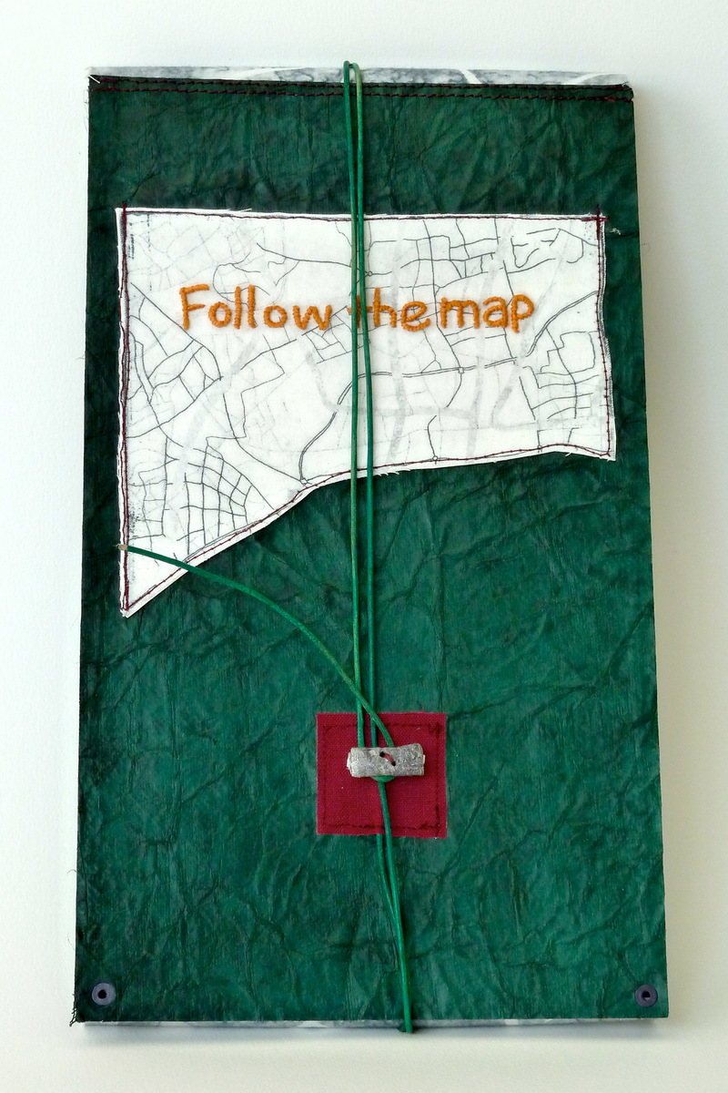 Artist Books Follow the map and keep going (variation, cover)