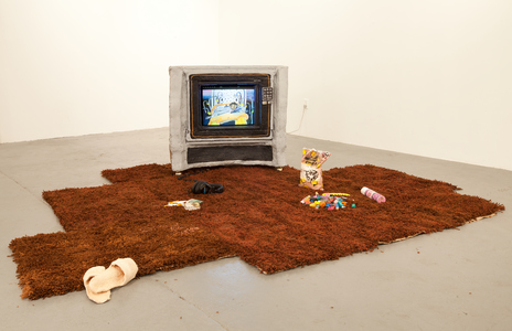 maia cruz palileo Sculpture & Installation Yarn, burlap, wood, plaster, beeswax, acrylic, concrete, spray paint, clay, resin, terrycloth, and TV monitor