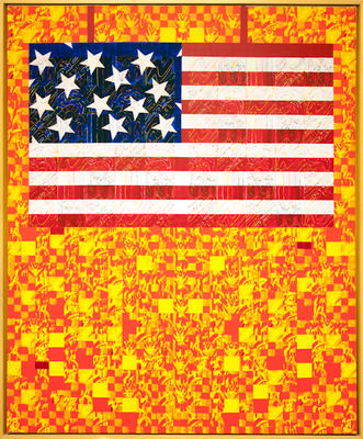 MARC LEAVITT Flag Series Acrylic on Canvas