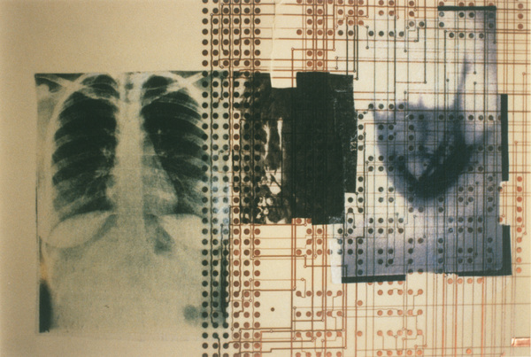 Med-Reckoning: System Navigation Computer circuit on mylar, photo transfers, light boxes, conduit, copper foil
