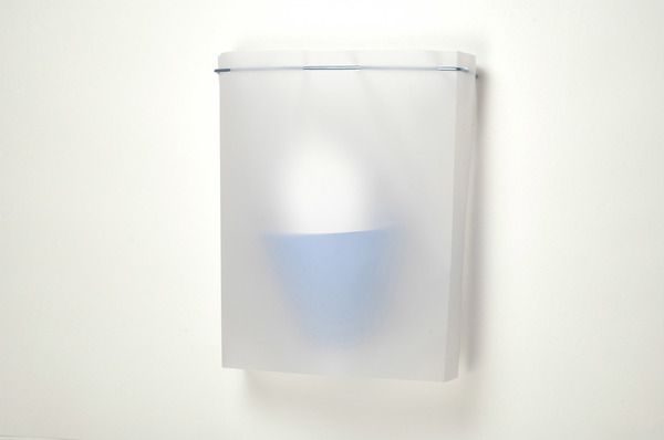 Works on Paper & Artist Books Paper vellum, aluminum leaf and vinyl coated wire