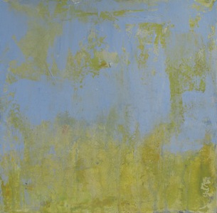Meghan Fleming Erosion Paintings Acrylic on Paper Mounted on Canvas