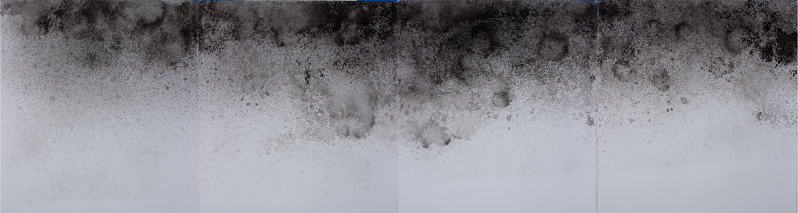 Meghan Fleming Land Loss Drawings India ink on Paper
