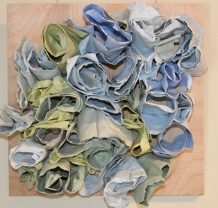 Meghan Fleming Handmade Paper Forms Pigmented Handmade Abaca Paper on Panel