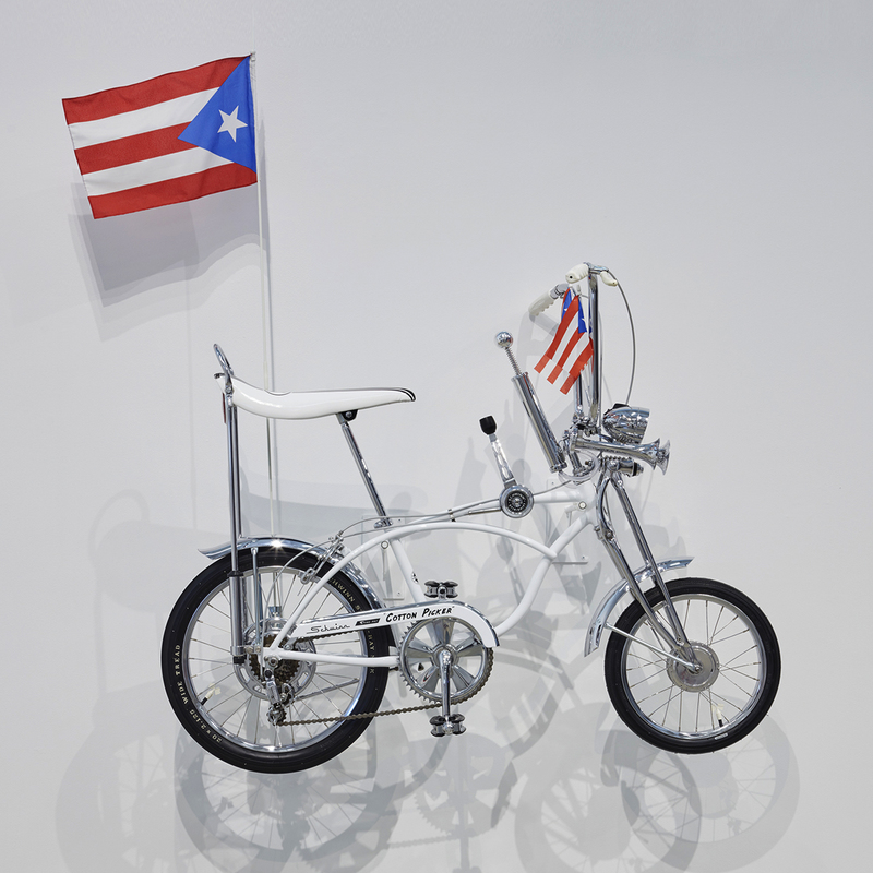 Miguel Luciano Porto Rican Cotton Picker 1971 Schwinn Cotton Picker, restored and customized