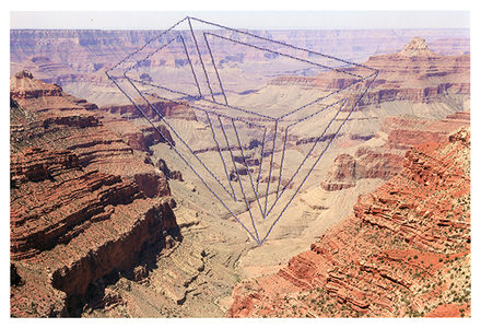 Millee Tibbs Impossible Geometries Archival Digital Print + Thread