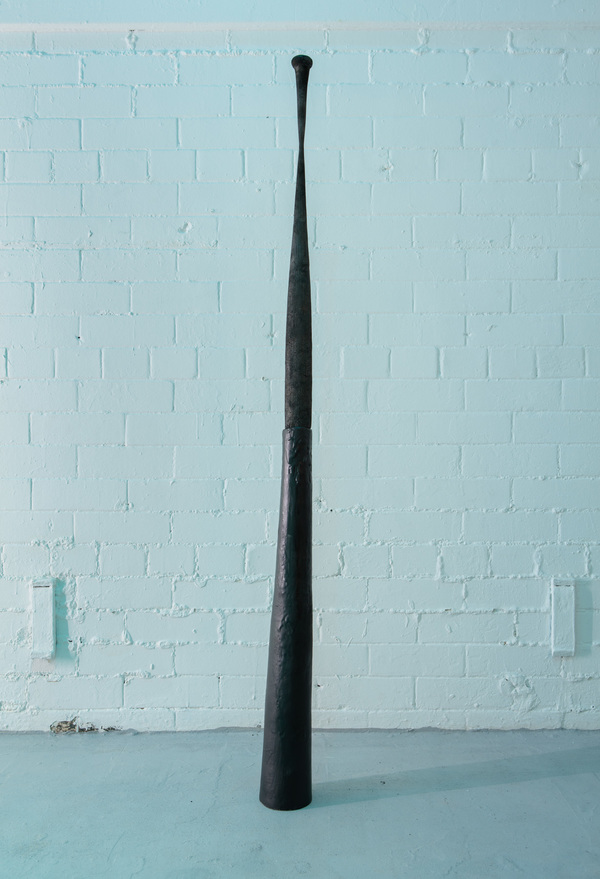 Priscilla Fusco Works Baseball bat, clay