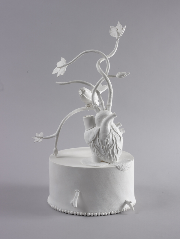 Pam J. Brown Sculpture polymer clay over wire and paper substructure.