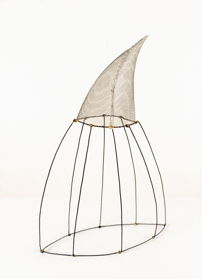 Pam J. Brown Sculpture 14 ga. steel wire, window screening, brazing rod, thread.