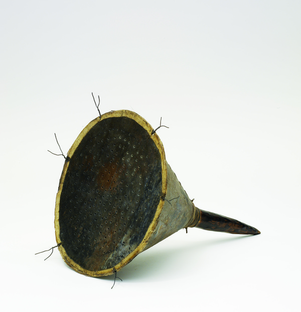 "Pam J. Brown Sculpture 1/16"" sheet metal, 14 ga. steel wire, 24 ga. steel wire, wood, fabric."