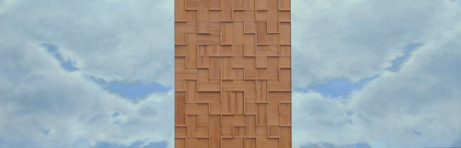 Peter Malone Multiple panel 1992-2002 oil on linen, wood labyrinth