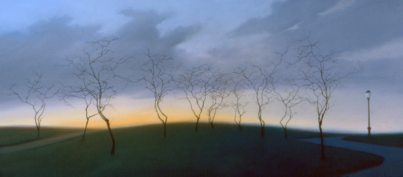 Peter Malone Landscape 1982-1991 oil on linen