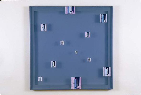 PIERRE LOUAVER  WORK 1999-2002 acrylic paint on polyester