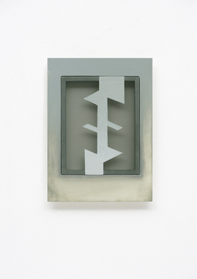 PIERRE LOUAVER TOPOI PAINTINGS acrylic paint on polyester & oil paint on plexiglass frame