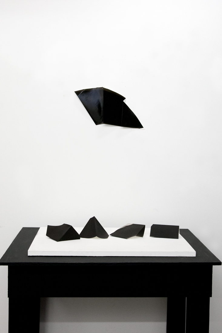 RACHELLE BUSSIERES  2015 Gelatin silver prints, Table