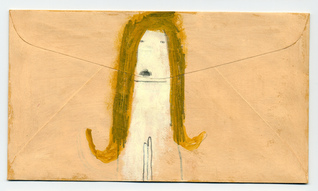 Rebecca Doughty archives gouache and pencil on envelope