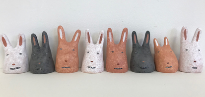 Rebecca Doughty odds & ends acrylic on sculpey
