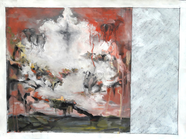RENÉE REY, ARTIST Paintings  Oil, acrylic, charcoal on paper