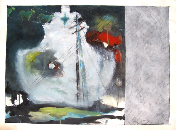 RENÉE REY, ARTIST Paintings  Oil, acrylic, graphite on paper