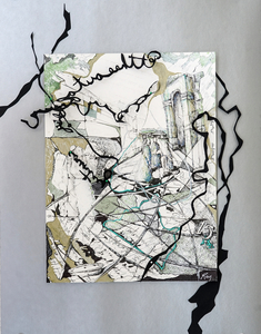 RENÉE REY, ARTIST Mixed Media Collages Ink, graphite, paper, sewing pins