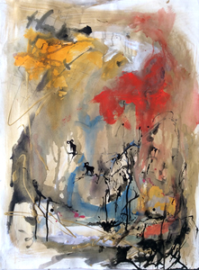 RENÉE REY, ARTIST Mixed Media   Acrylic paint, graphite, paper collaged on paper