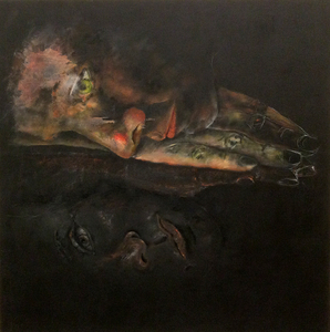RENÉE REY, ARTIST Earlier Works Oil, acrylic, charcoal on paper mounted on aluminum