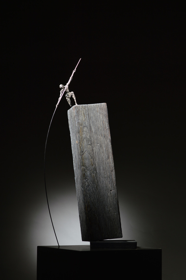 DAVID ROBINSON Makeshift Matter Bronze, steel, Douglas fir