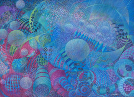 RUTH SHARTON Particles Colored Pencil on Paper