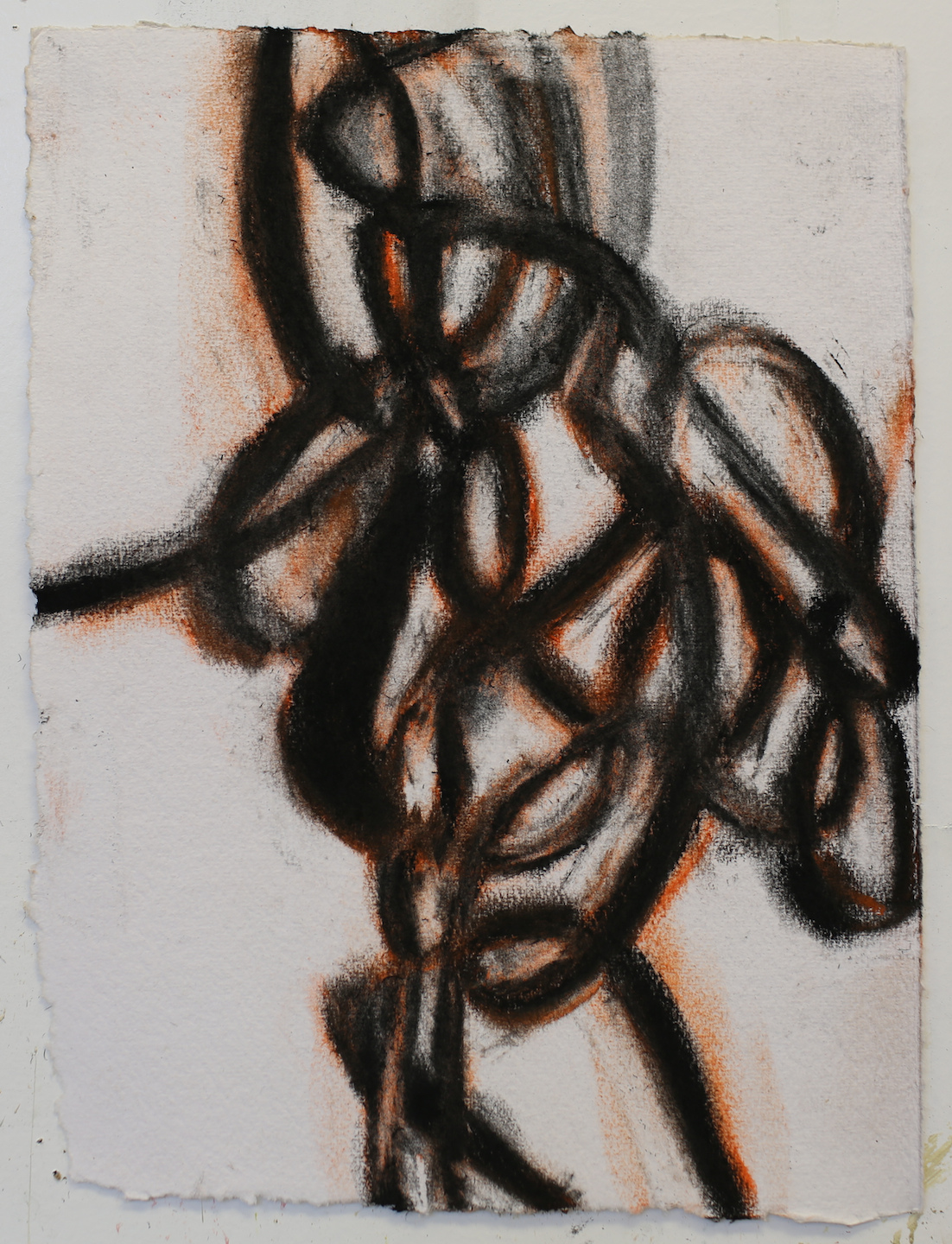 """Street Tar"", pastel and charcoal on handmade paper"