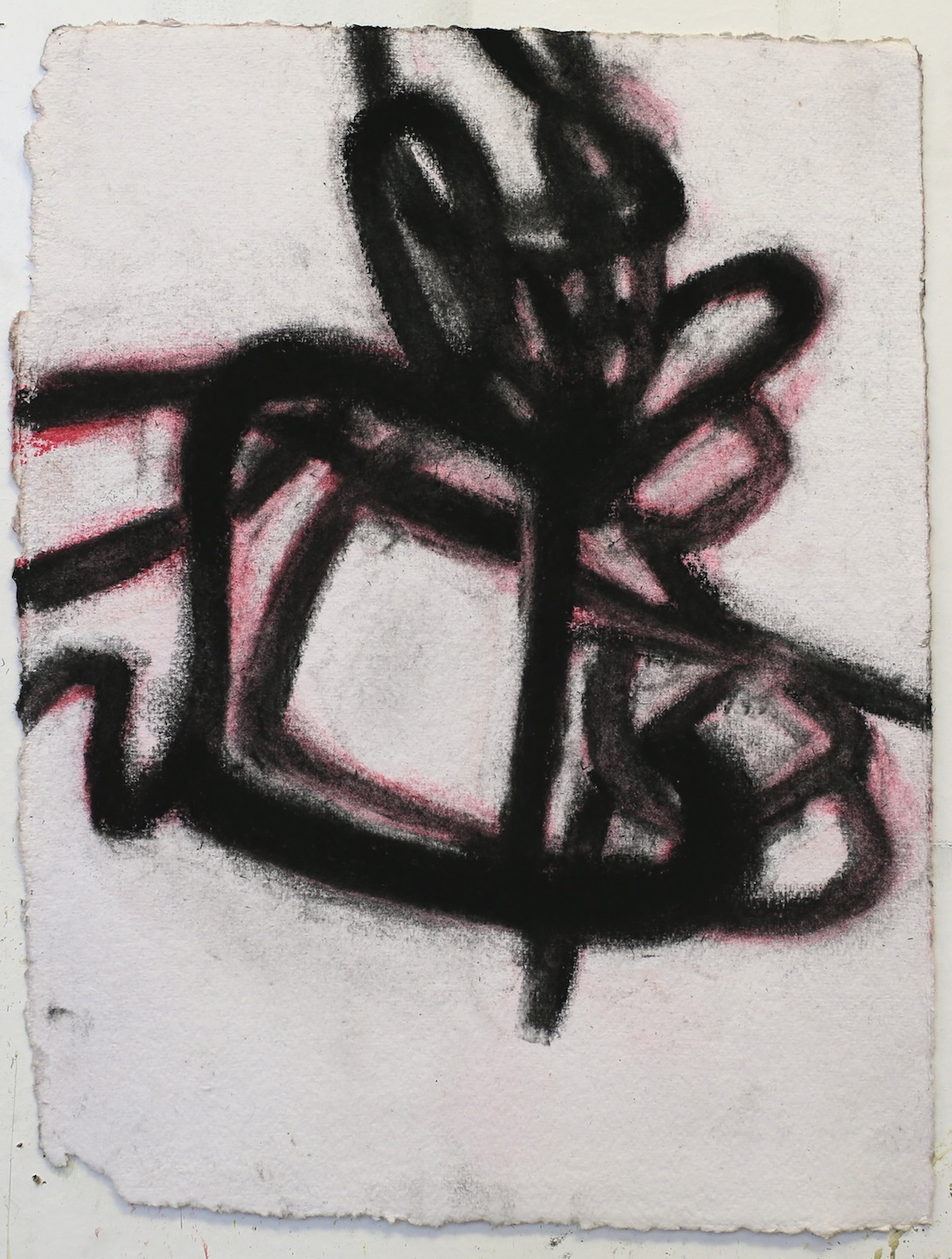 """Street Tar"", pastel and charcoal on handmade paper 8."