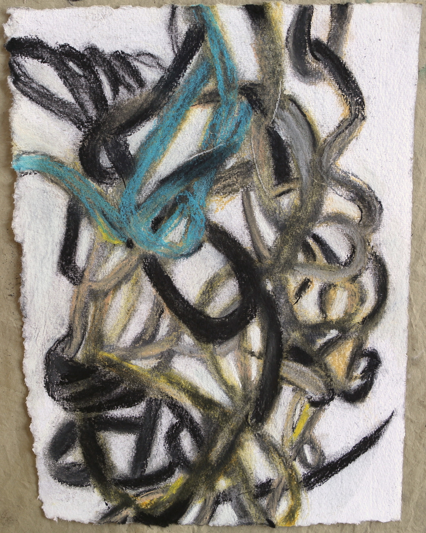 """Street Tar"", pastel and charcoal on handmade paper 3."