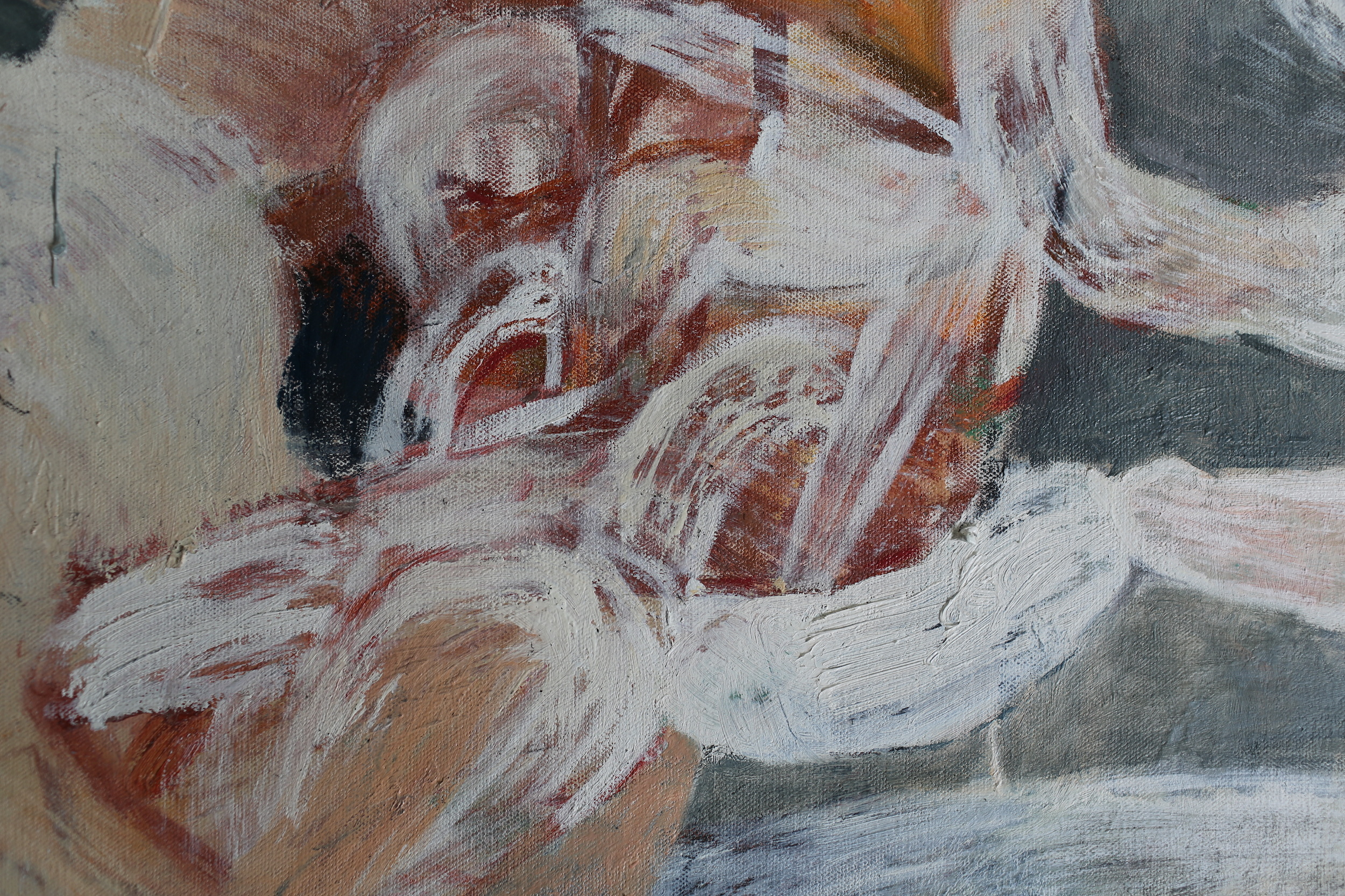 Recent Paintings detail, Unravel