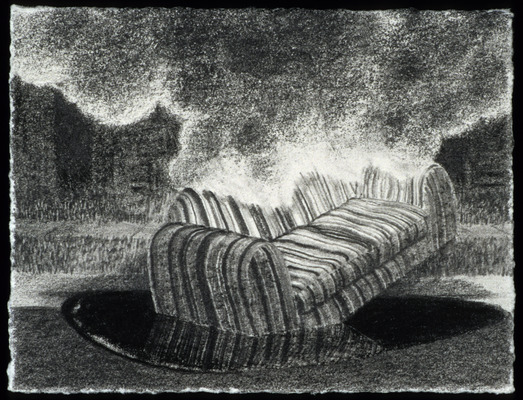 Scott Espeseth Backyard Premonitions Graphite on Paper