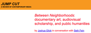 SETH FEIN • Seven Local Film Between Neighborhoods