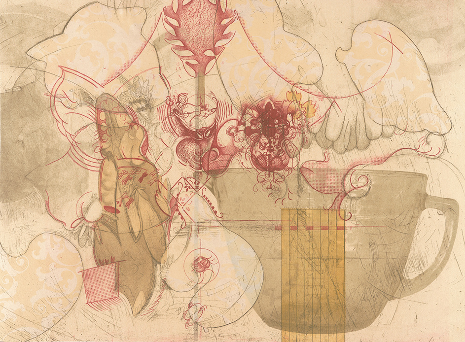 SHELLEY THORSTENSEN Selected Edition work  30 x 22 Etching, Lithograph and Relief with chine collé