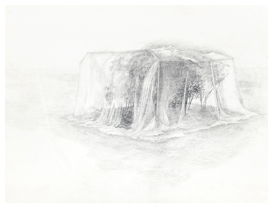 Shona Macdonald Ghosts silverpoint and graphite on absorbent ground on paper