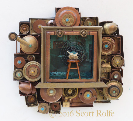 Rusty Crocodiles - The Assemblage Art of Scott Rolfe 2016 Works Assemblage