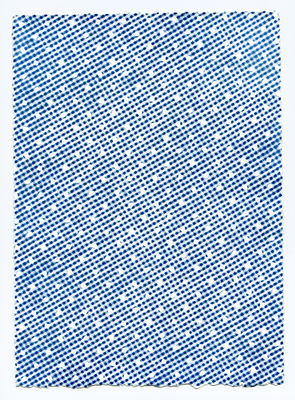 Untitled (Dots on Checkers)