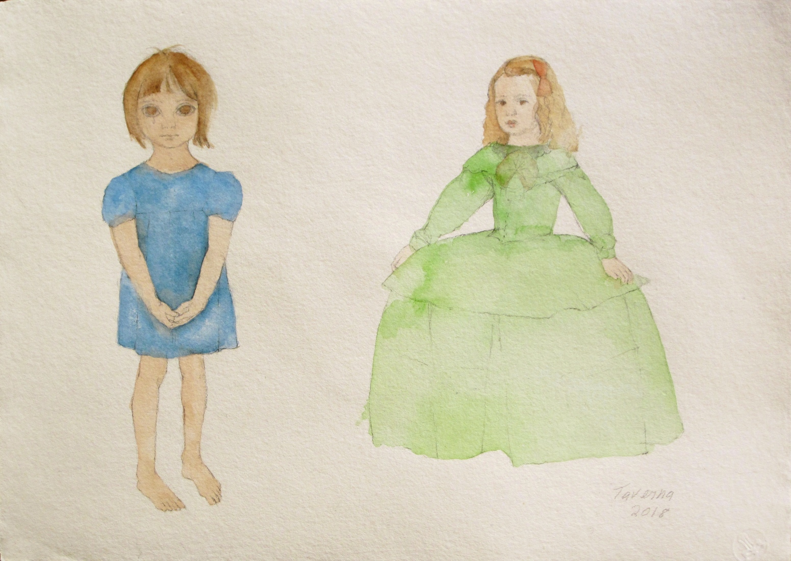 watercolors The Princess and the Waif