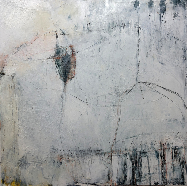 talya baharal - paintings THORNDIKE SERIES Acrylic and pastel on wood panel